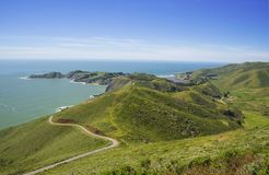 View on Pacific ocean and Point Bonita, California, USA royalty free stock image