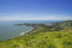 View on Pacific ocean from Point Bonita, California, USA Royalty Free Stock Image