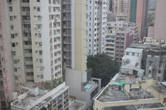 View of packed apartments in Hong Kong Royalty Free Stock Images