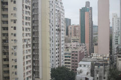 View of packed apartments in Hong Kong Royalty Free Stock Photos