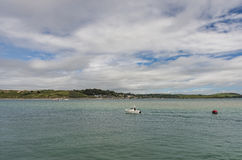 View from Padstow over estuary Stock Photos