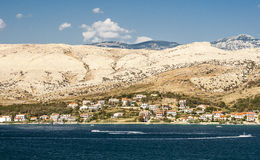View of Pag in Croatia Stock Photo