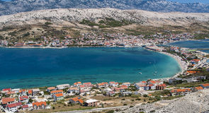 View of Pag in Croatia Royalty Free Stock Image