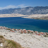 View of Pag in Croatia Stock Photos