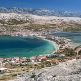 View of Pag in Croatia Stock Photography