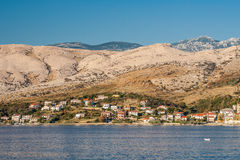 View of Pag in Croatia Stock Images