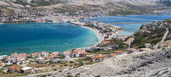 View of Pag in Croatia Royalty Free Stock Photography