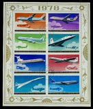 Magnificent postage stamps stock photography