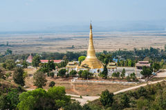 View of pagoda from hilltop Royalty Free Stock Images