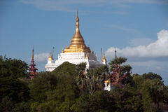 View of Pagoda in Sagaing hill near Ayeyarwady river ,Myanmar. Stock Images