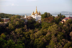 View of Pagoda from Sagaing hill,Sagaing Division, Stock Images