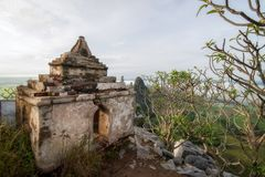 A pagoda on the top of Khao Nor at Nakhon Sawan, Thailand. View of a pagoda on the top of Khao Nor at Nakhon Sawan, Thailand royalty free stock photo