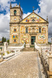 View at the painted decoration facade church Our Lady of Amparo in Valega ,Portugal Royalty Free Stock Image