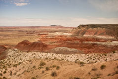 View of Painted Desert. This is a view of Painted Desert from Whipple Point from Petrified Forest and Painted Desert Nationl Park Royalty Free Stock Photo