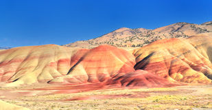 A view from the Painted Hills overlook stock image