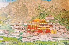 View painting at Ramtek Monastry in Gungtok Stock Photography