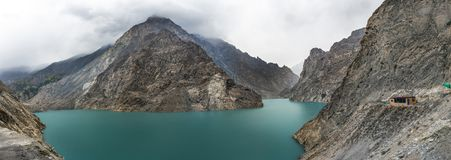 View of Hunza River, Pakistan. View of Pakistan country along the Hunza River from Hunza Valley to Pasu Royalty Free Stock Photography