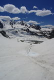 View from pakora pass. Mountains and glaciers on the pakora trek in karakoram himalaya Royalty Free Stock Photo