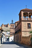 View palace, church and castle Calahorra Stock Photography