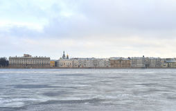 View of the Palace Embankment. Royalty Free Stock Photo