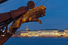 View of the Palace Embankment. St. Petersburg. Russia Royalty Free Stock Photo