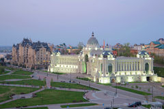 View of the Palace of farmers in the april. Kazan Stock Photo