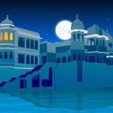 View of palace on full moon Stock Photography
