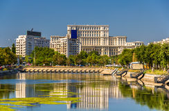 View of Palace of Parliament in Bucharest Stock Image