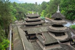 Palace roofs in Enshi Tusi imperial ancient city in Hubei China. View of palace roofs in Enshi Tusi imperial ancient city in Hubei China stock image