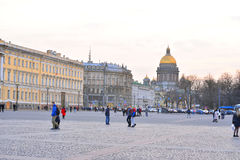 View of Palace Square and Admiralty Avenue. Stock Photos