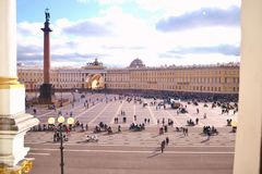 View of Palace Square. From the Hermitage Royalty Free Stock Images