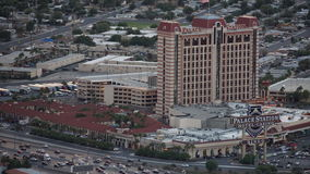 View of the Palace Station hotel from the Stratosphere Tower in Las Vegas, Nevada Stock Image