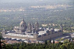 View of the Palacio de Sal Lorenzo del Escorial Royalty Free Stock Photography
