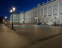 View of Palacio Real by night stock photography