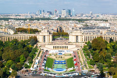 View of the Palais de Chaillot from the Eiffel Tower Royalty Free Stock Photos