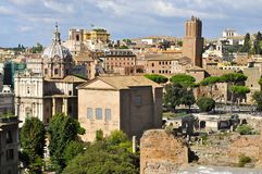Roman Forum. View from palatine Hill, facing North Stock Photo