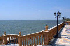 View From a Palazzo 2. The Gulf of Mexico viewed from a Venetian style palazzo stock photos