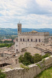 A view on Palazzo dei Consoli roofs adjacent in Gubbio, Umbria Stock Image