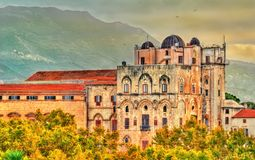 View of the Palazzo dei Normanni in Palermo - Sicily, Italy. View of the Palazzo dei Normanni. A UNESCO world heritage site in Palermo - Sicily, Italy Royalty Free Stock Photos
