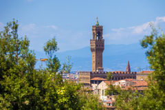 View of the Palazzo della Signoria tower, Florence Royalty Free Stock Photos