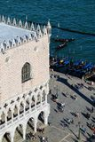 View of Palazzo Ducale and Grand Canal from St Mark's Campanile in Venice, Italy. The palace was the residence of the Doge of Venice royalty free stock photos
