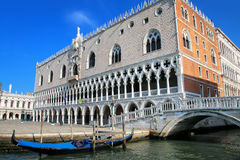 View of Palazzo Ducale from Grand Canal in Venice, Italy. The palace was the residence of the Doge of Venice Royalty Free Stock Photography