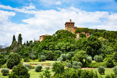 View of the Palazzo Massaini in Pienza in the tuscan region of S Stock Images