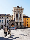 View of palazzo porto in Vicenza in spring Royalty Free Stock Photos