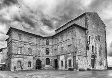 View of Palazzo Pretorio, medieval building in Gubbio, Italy Royalty Free Stock Photo