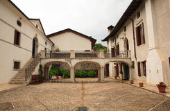 View of Palazzo Scolari, Polcenigo Royalty Free Stock Image