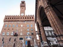 View of Palazzo Vecchio and Loggia dei Lanzi Royalty Free Stock Images