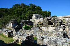 View Palenque Ruins Chiapas Mexico stock image