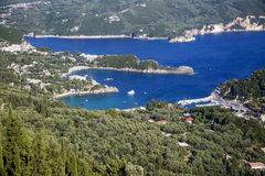 View at Paleokastritsa, Corfu Royalty Free Stock Image