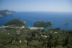 View on Paleokastritsa, Corfu, Greece Stock Images